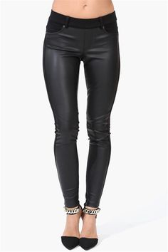 So Obsessed Leather Legging in Black