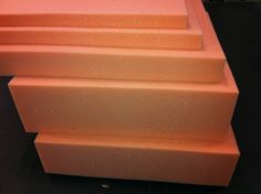 Upholstery foam cushions sheets High density Pink//Grey foam seat pads any size