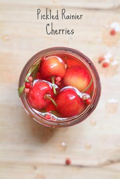 Pickled Rainier Cherries - What Jew Wanna Eat The perfect summer snack!