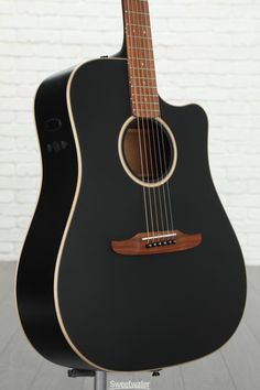 Fender Redondo Special - Matte Black Acoustic-electric Guitar with Spruce Top; Mahogany Back, Sides, and Neck; and Fishman Electronics - Matte Black