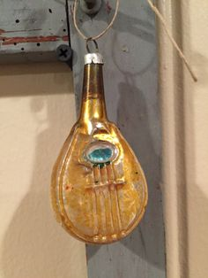 Vintage Mercury Glass Musical Instrument by LavenderRoadAntiques