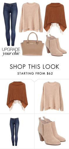"""Cozy Chic"" by bloguerosa on Polyvore featuring Samoon, MANGO and Michael Kors"