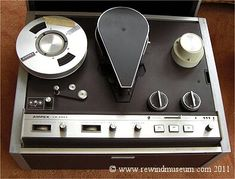 Museum of vintage reel to reel video recorders. Open reel black and white antique video recorders. Cassette Vhs, Audio, Vr, Museum, Objects, Past Tense, Magnetic Tape, Embroidery, Museums