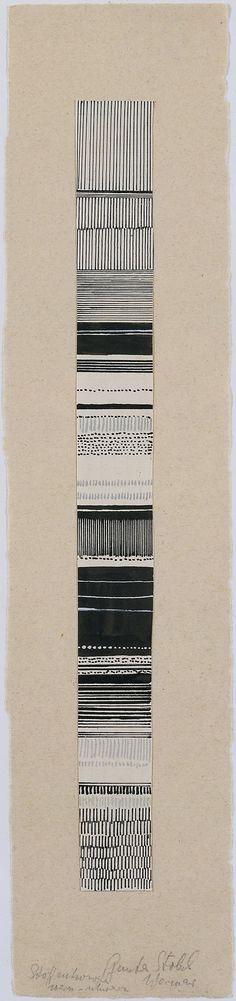 Gunta Stölzl - Watercolor and ink fabric design, 1919–1925. Bauhaus Archive.