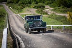 //The Land Rover Series I on the Heritage Drive course.