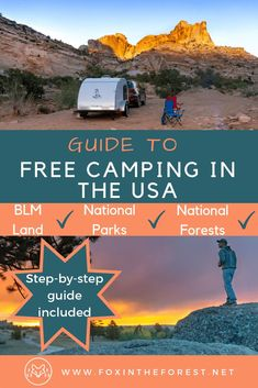 How to find free camping in the USA. Find free camp sites on BLM land. Guide to free camping near national parks. How to boondock. The Effective Pictures We Offer You … Family Camping, Tent Camping, Camping Gear, Outdoor Camping, Hiking Gear, Women Camping, Minivan Camping, Lake Camping, Backpack Camping