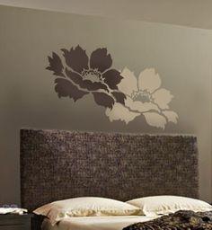 Flower stencil Tree Peony LG - Stencils for DIY wall decor. $34.95, via Etsy.