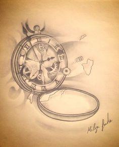 broken clock broken clock ink surrealism surrealist tattoo blackngrey ...
