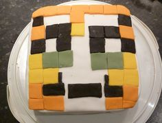 Minecraft Stampy Cat Birthday Cake an I made the decoration from Icing reddy to eat Yummy