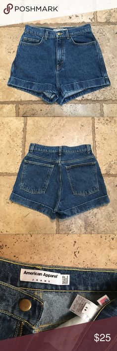 American Apparel High Waisted Denim Shorts Perfect condition Sz 28 American Apparel Shorts Jean Shorts