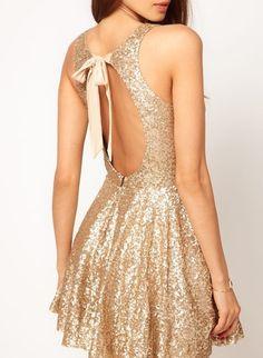 a7d3b681d Global DJ Gold Sequin Dress