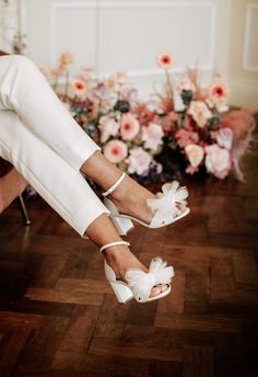 Bridal Heels, Wedding Shoes Heels, Bride Shoes, Bridal Wedding Shoes, Bow Shoes, Dream Wedding, Wedding Day, Boho Wedding, Tulle Bows