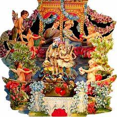 Victorian Valentine Scene : Vintage Art Girl - Home Decor & Gifts
