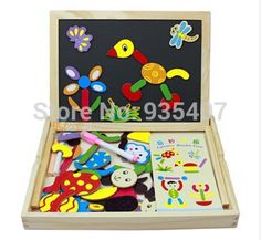 Creative Wooden Magnetic Board Erasable Writing Pad Drawing Board Educational Toys Digital Letters Number Children Puzzle Early Learning Beautiful And Charming Home