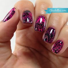 Messy Mansion Paisley Stamped Nails