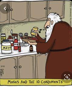Funny Cartoons, Funny Comics, Math Cartoons, Far Side Comics, Religious Humor, The Argyle, Christian Humor, Christian Cartoons, Bad Puns