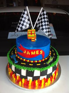 Hot Wheels Birthday Party Ideas Cake By Debs cakepins.com
