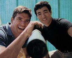 Bruce Lee  with Van Williams (The Green Hornet)