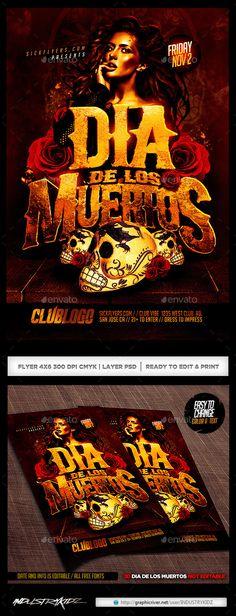 Dia De Los Muertos Flyer