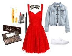 """""""Girls Night on the Pier"""" by piperwrite ❤ liked on Polyvore featuring NARS Cosmetics, Chi Chi, H&M, Vans, Ray-Ban, Burberry, Urban Decay and Maybelline"""