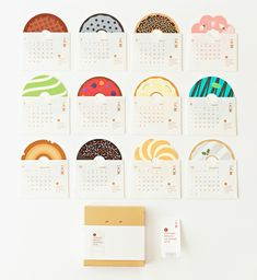 2018 DONUTS CALENDAR | 株式会社一九堂印刷所 Web Design, Book Design, Layout Design, Print Layout, Creative Calendar, Cute Calendar, Packaging Design, Branding Design, Kalender Design