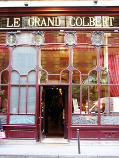 Le Grand Colbert, Paris  THIS IS THE ONE FOR SURE..ANYONE KNOW WHAT MUST BE ORDERED?NEW DESTINATION AND DINNER RESERVATION FOR MY 65TH B- DAY THIS APRIL. SECOND TRIP FIR ME TO PARIS! MAYBE I CAN FIND A INTERNSHIP SOMEWHERE? I really never wanted to go home! ,ARY KAYS CATERING!
