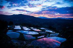 十日町の棚田(新潟県) Japan Landscape, Winter Landscape, Tokyo, Sea Of Japan, Niigata, Japanese Beauty, Beautiful Landscapes, Photo Art, Sunrise