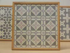 Handmade encaustic tiles, 15x15 cm. 1560 New York. Brochure available.