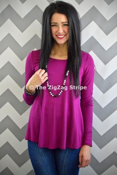 Best tops ever! Magenta Cuff Top – The ZigZag Stripe. Use coupon code ZZS72 to save 10% on every order, and shipping is free! zigzagstripe.com