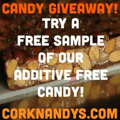 We're giving away Free Samples of our Additive Free, Dark Chocolate Almond Candy! Try it! http://corknandys.com/community/contact