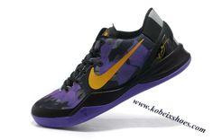 Nike Zoom Kobe 8 Black Purple Yellow