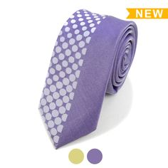 5672760c3d1 Slim ties are the perfect finishing touch for any occasion. Colors  Purple  or Gold