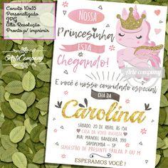 Convite CHÁ DE FRALDA MENINA (Digital)