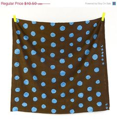 Nani Iro Japanese Fabric Pocho A/W 2012  blue on by MissMatatabi, $10.50