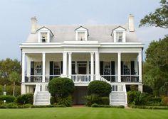 Front porch. Big columns