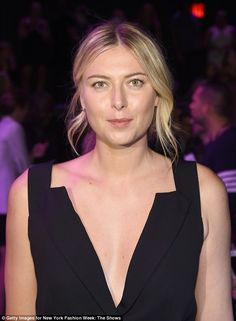 A daring look: A daringly low neckline teased a glimpse of her perky cleavage…