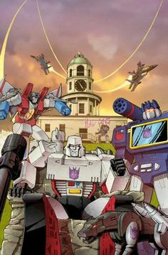 Transformers - Decepticons in Halifax at the town clock.