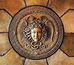 The aegis is a symbol of Athena because Athena has this shield and it protects her when she battles and goes to war and the aegis is referred in The Illiad.