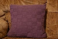 Em's Knits: Waffly weavy good cushion cover free pattern - beginner