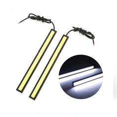 2 unids 17 cm cob led drl luz corriente diurna 12 V Impermeable lámpara de exterior car styling fuente de luz de estacionamiento auto antiniebla bar lámpara