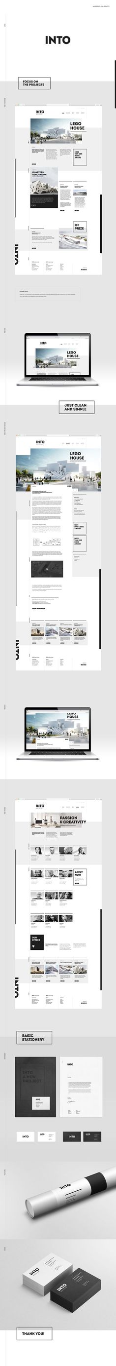 webdesign and branding concept for architecture office.INTO Architecture Irena Nowacka: www.behance.net/irenanowacka: