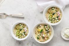 Orzo with Zucchini, Dill, and Feta  - CountryLiving.com