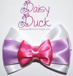 Daisy Duck Hair Bow by MickeyWaffles on Etsy from MickeyWaffles on Etsy. Shop more products from MickeyWaffles on Etsy on Wanelo. Diy Ribbon, Ribbon Crafts, Fabric Ribbon, Ribbon Bows, Ribbons, Broches Disney, Disney Hair Bows, Ribbon Sculpture, Daisy Duck