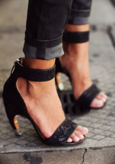 strappy black shoes > ONE DAY | TheyAllHateUs