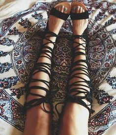 bohemian gladiator sandals - Google Search