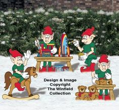 Toy Making Elves Woodcraft Pattern