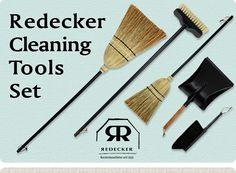 ドイツ REDECKER(レデッカー)社のお洒落なお掃除用品セット/お掃除/大掃除 【REDECKER】クリーニングツールズ 5点セット:::REDECKER のほうきMサイズ、Sサイズにダストパン(チリトリ)、デッキブラシ、馬毛のハンドブラシのセット。揃えてオシャレなミントグリーンとシックブラックのお掃除アイテムセット 価格 11,800円 (税込 12,744 円) 送料込