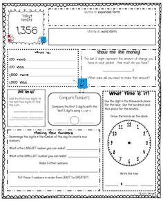 Learning's a Hoot: Number of the Day    This might be ok to use a little later on during the year, or for a Number of the Week assignment.  There's a blank template at the end so you can use numbers more appropriate for your grade level (although you might have to re-do some of the wording on the activities).