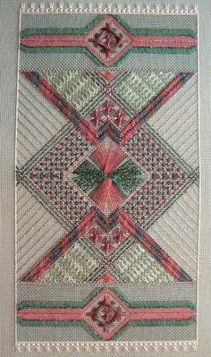 Anasazi dream, charted needlepoint, completed