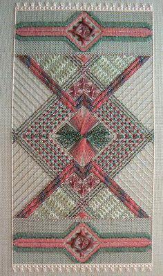 Anasazi dream, charted needlepoint, completed, Carole Lake design